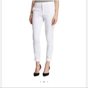 Vince | White Tapered Ankle Pants